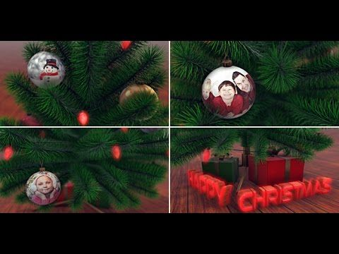 Christmas Tree With Photos After Effects Template Christmas Tree Template 3d Christmas Tree Christmas Photos