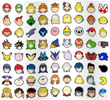 Super Smash Bros Ultimate Character Stock Icons Franchise Order