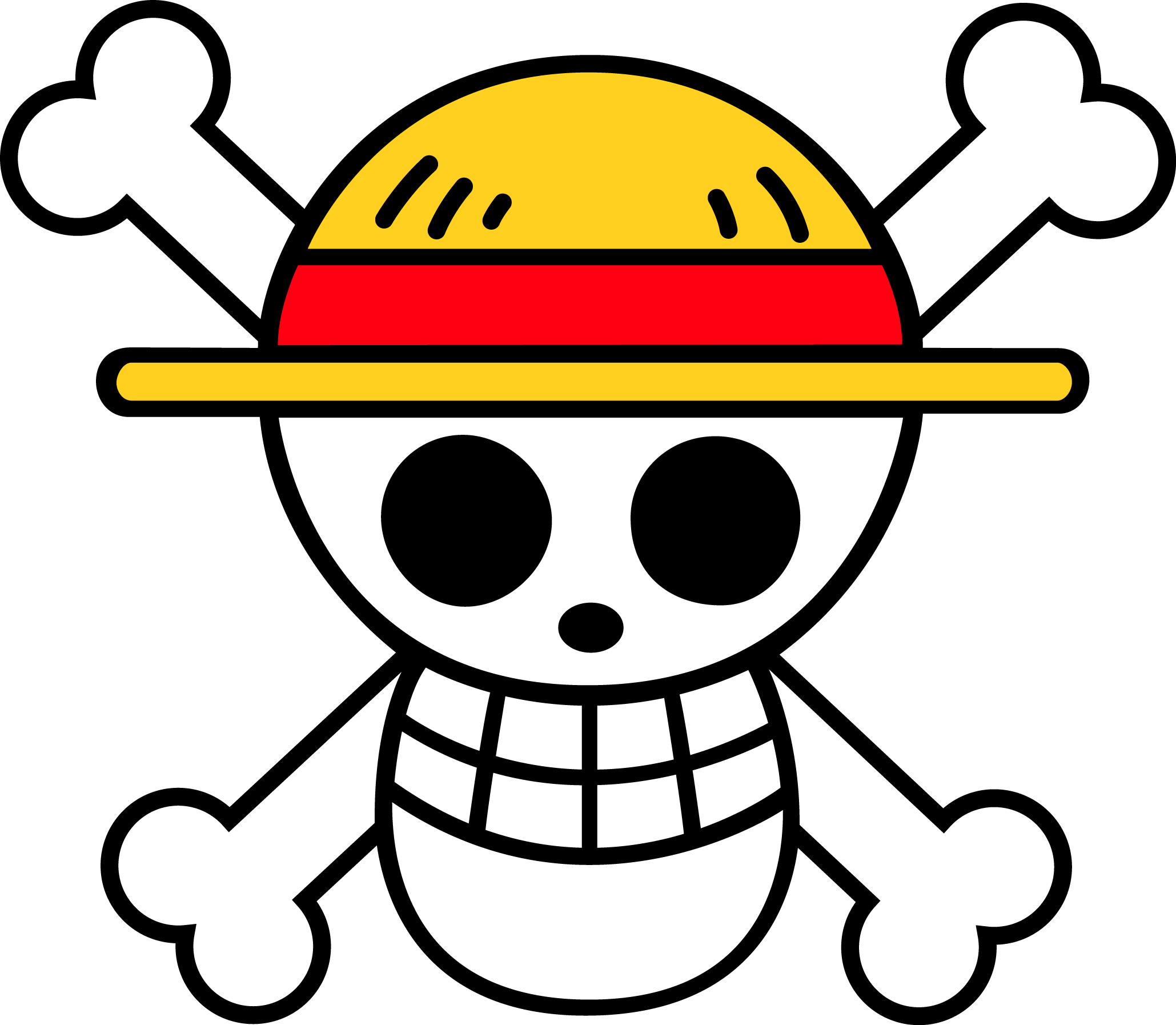 Google themes anime one piece - Nice Large Version Of Luffy S Personal Jolly Roger That I Made From The Anime Manga One Piece Made With Illustrator Updated On Feb Luffy S Flag