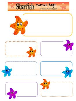 Here Is A Cute Idea For Name Tags Or Other Labeling Projects Fully Editable And Easy To UseThis Printable Includes1 Page With One Large Six Small