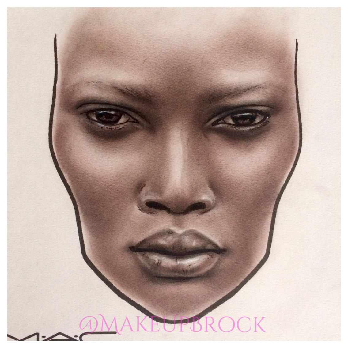 @makeupbrock  #facechart