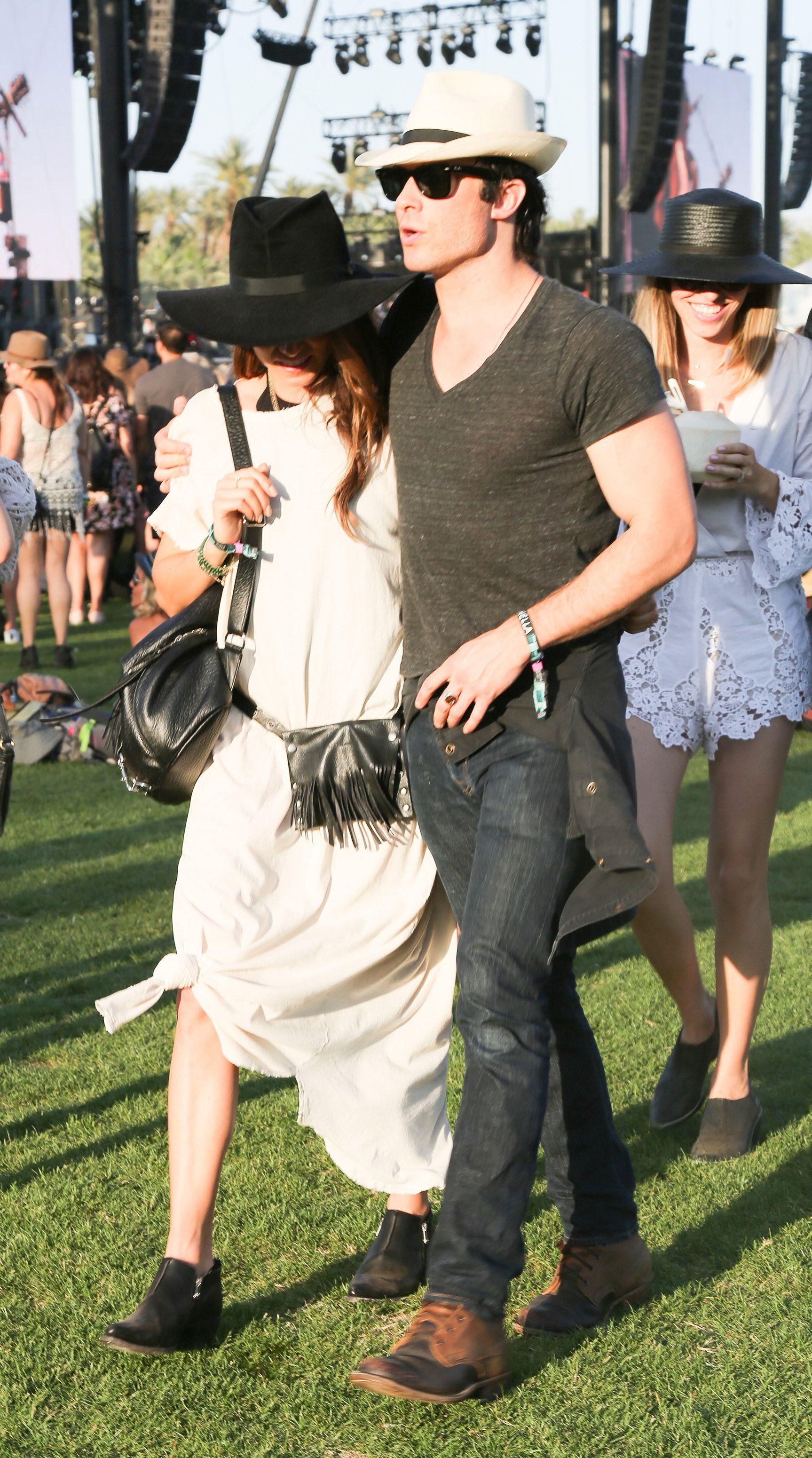 Ian Somerhalder and Nikki Reed Can't Stop Kissing at Coachella