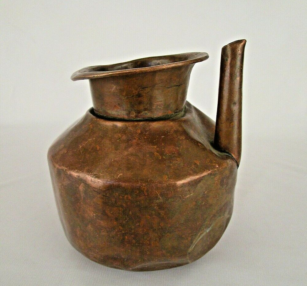 1850 S Old Antique Heavy Handmade Pot Copper Water Pot Lota