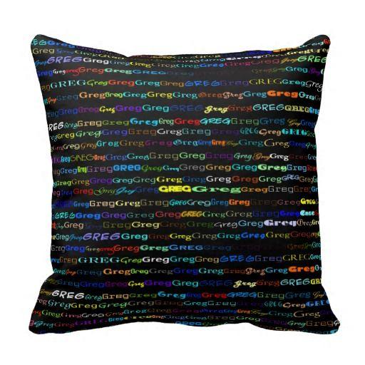Greg Text Design I Throw Pillow