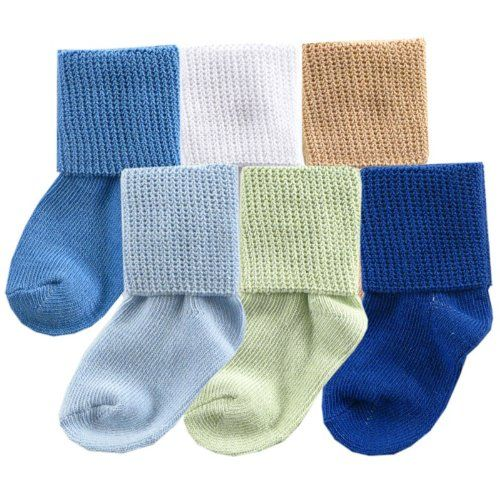 Luvable Friends Baby Basic Cuff Socks 6-Pack
