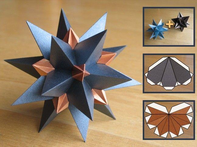 Origami Nut » Spiked Icosahedron | 486x648