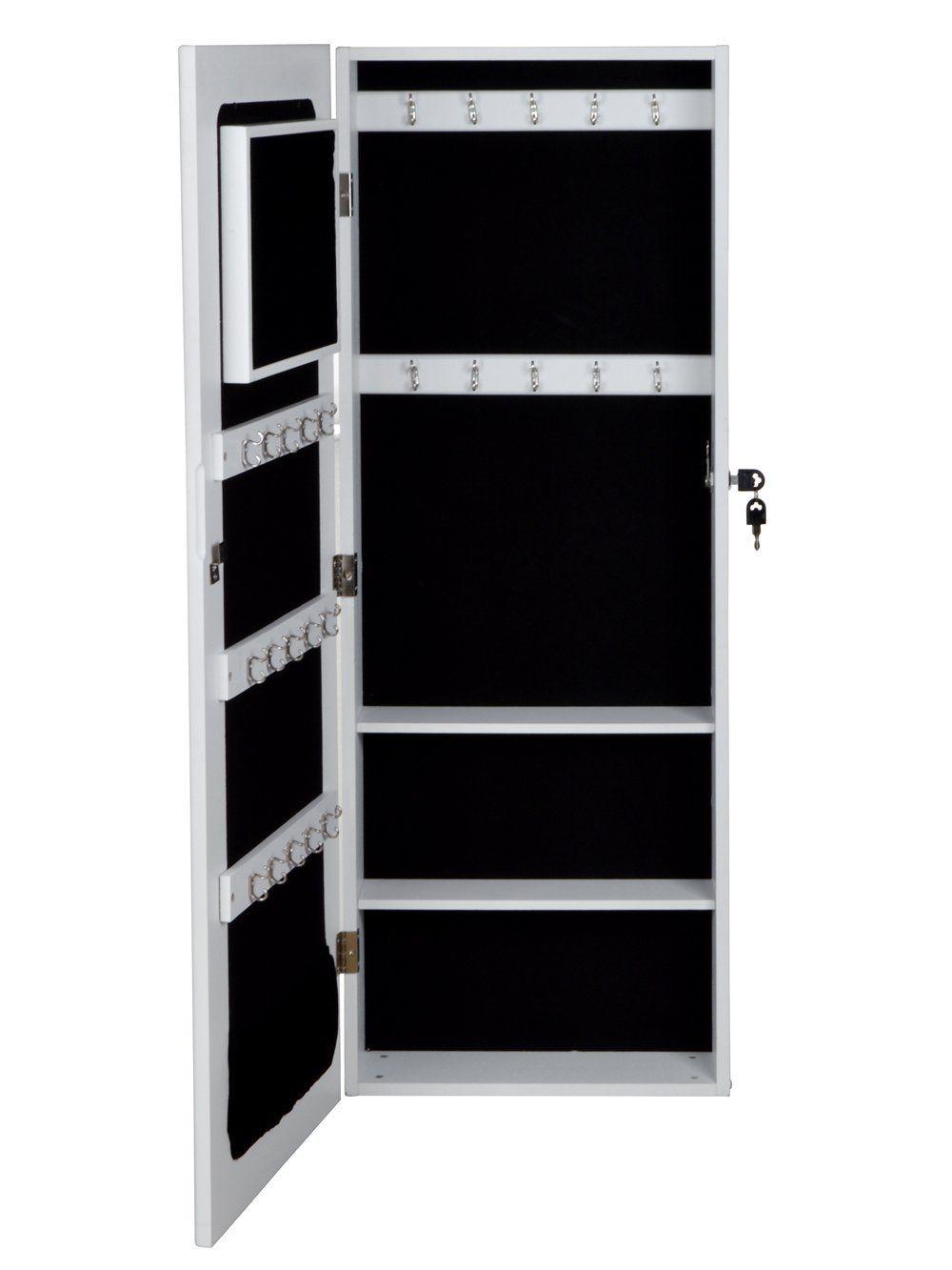 Amazoncom TMS Glass Mirrored Jewelry Cabinet Armoire Organizer