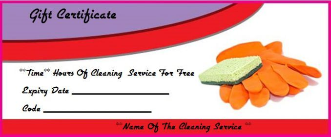 Cleaning gift certificate template house cleaning gift certificate cleaning gift certificate template yelopaper Image collections