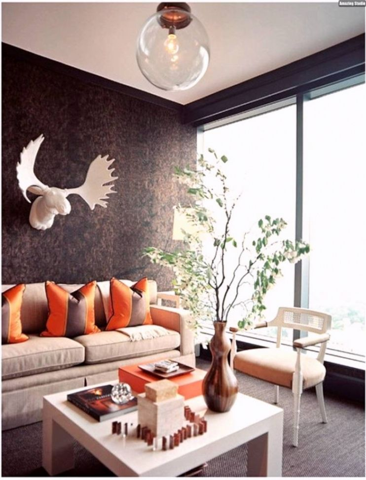 wohnzimmer orange deko  free wallpaper hd collection