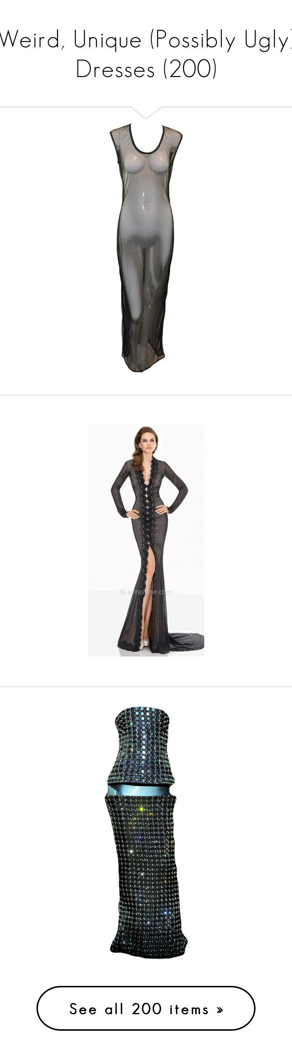 Weird unique possibly ugly dresses