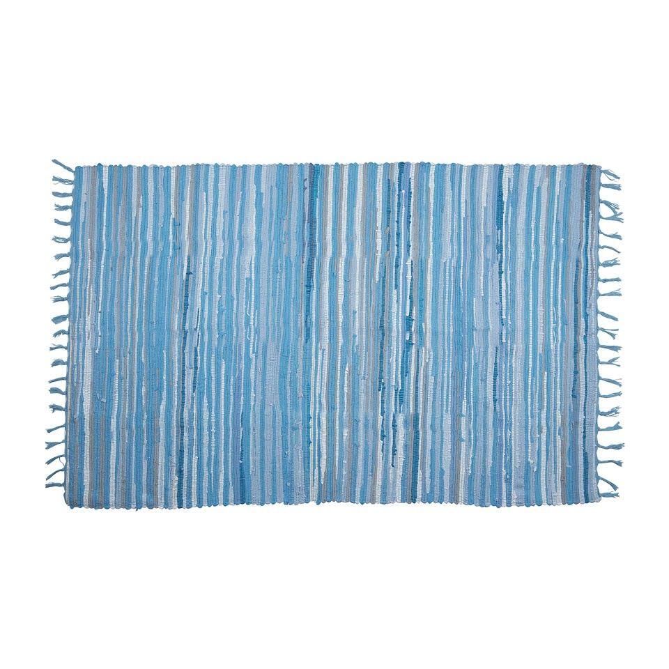 Vloerkleed Kathmandu - 120x180 cm – blauw | Xenos | Huis ...