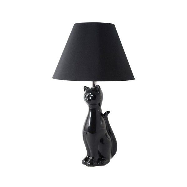 Lucky Black Cat Table Lamp From Dunelm Mill Liked On Polyvore Featuring Lighting Cat Lamp Art Deco Home Home Accessories