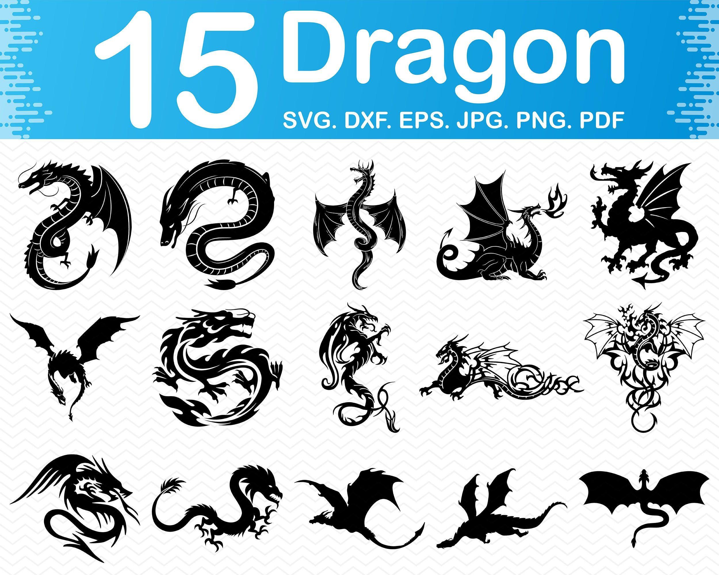 Download Dragon svg, Dragon svg files for cricut, Dragon clipart ...