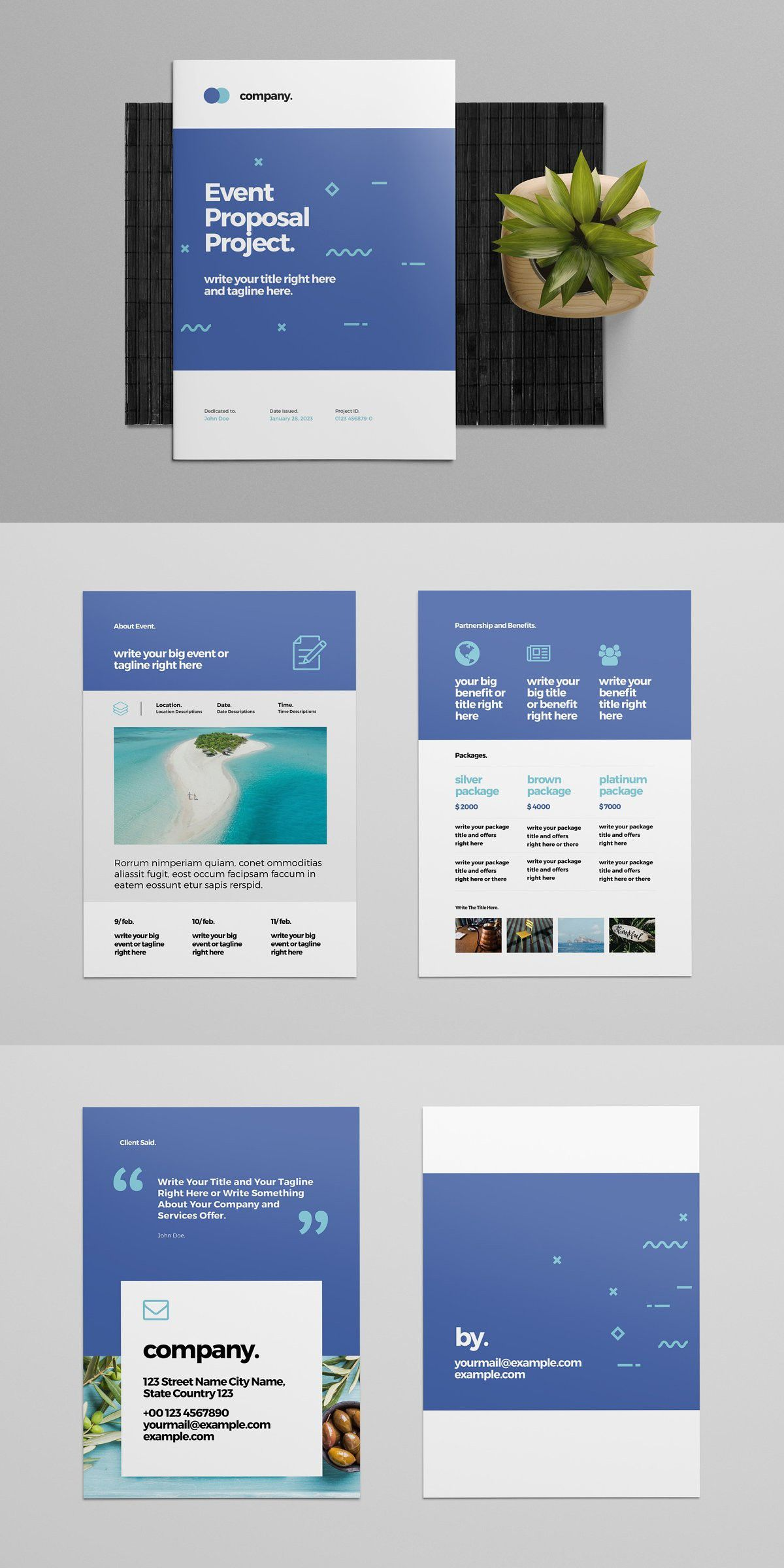 Event Proposal Layout In 2020 Event Proposal Web Design Proposal Indesign Magazine Templates