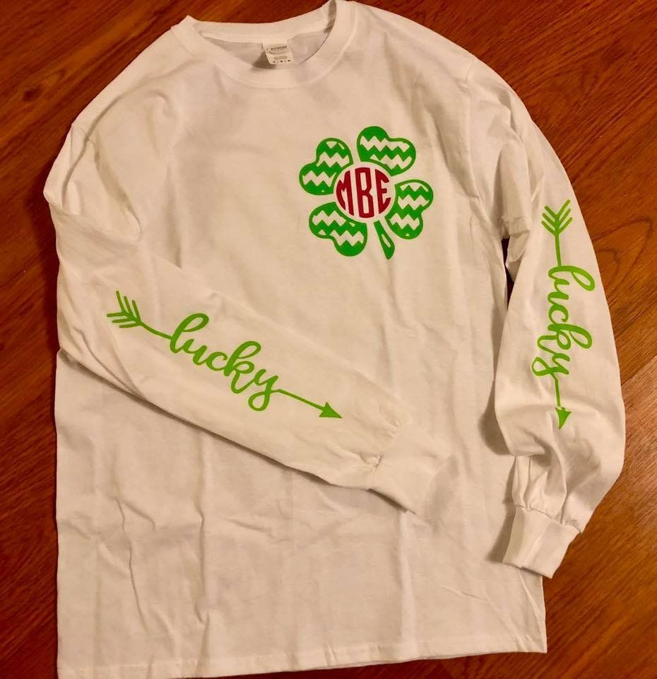 Monogram St. Patricks shirt // St. Patricks Day Shirt