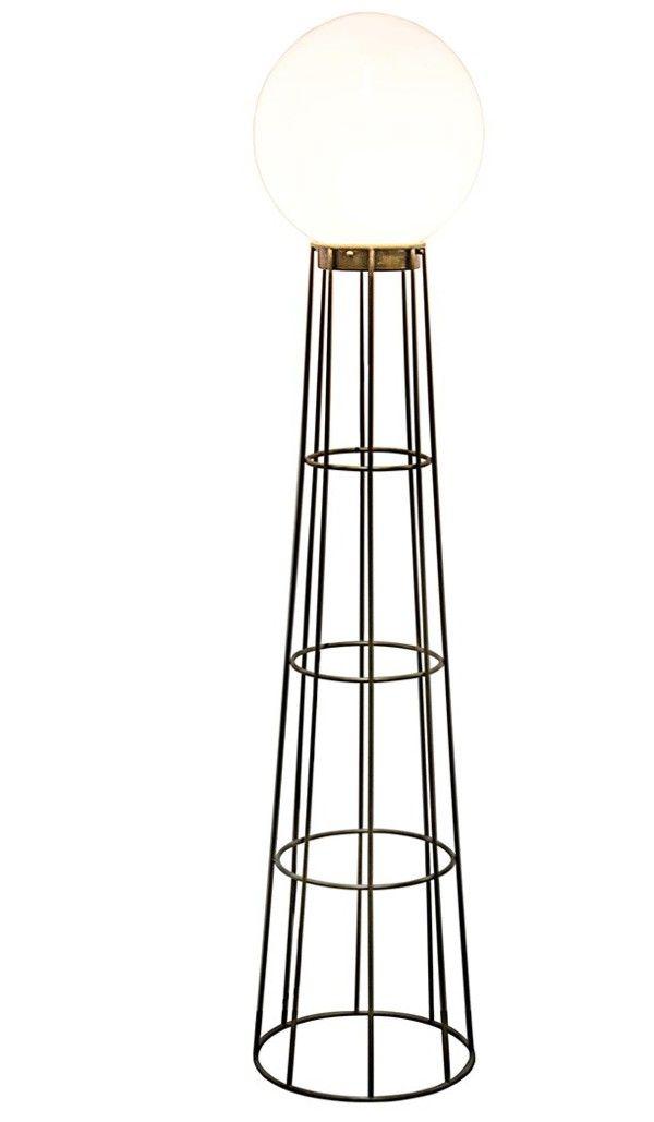 Noir furniture pearl floor lamp antique brass lamp552mb