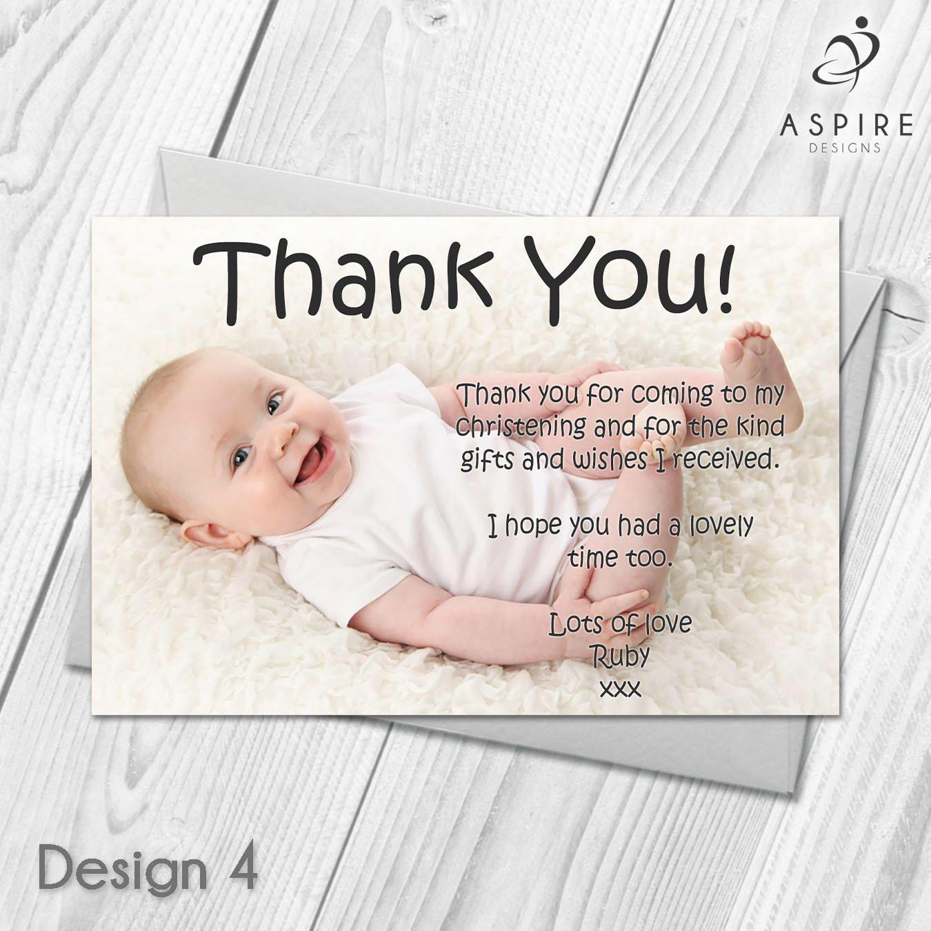 personalised christeningbaptismthanksgiving thank you