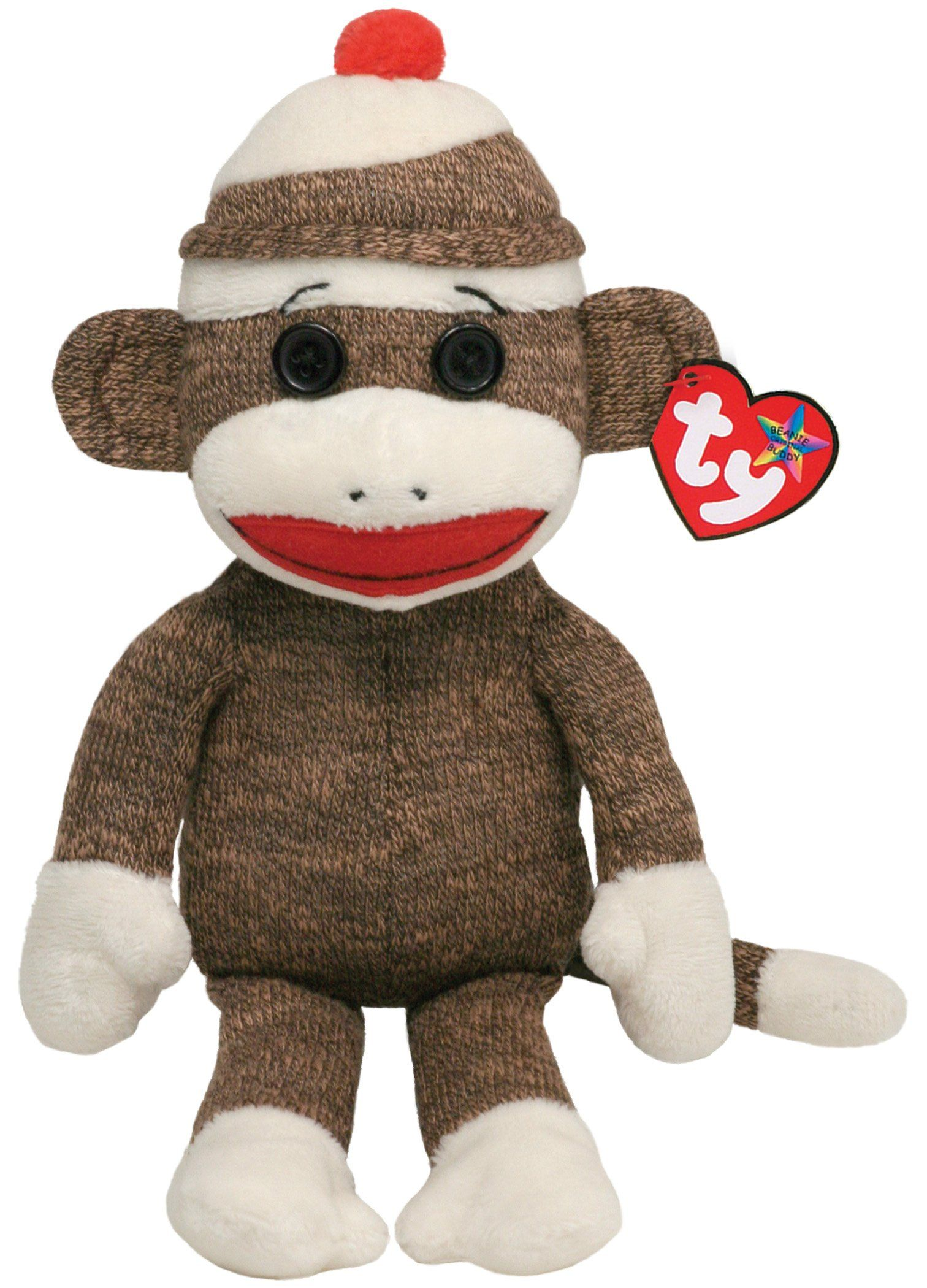 Amazon.com  Ty Beanie Buddies Socks Monkey (Brown)  Toys   Games ... 41ecfe8cec68