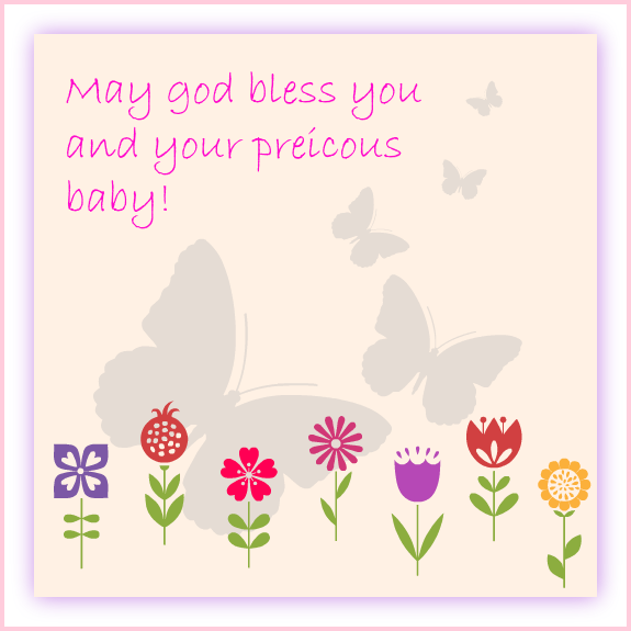 baby shower message greeting card  may god bless you and your, Baby shower invitation