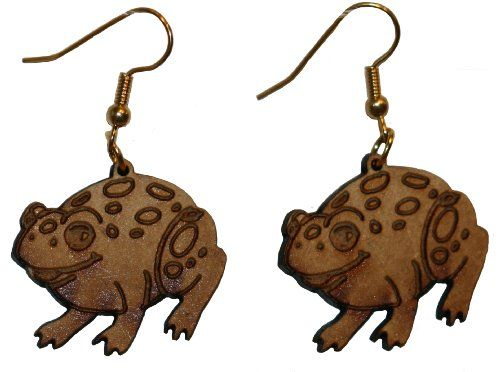 Frog earrings with 1 inch wooden beads-gold plated EP Laser http://www.amazon.com/dp/B00FEPM0UE/ref=cm_sw_r_pi_dp_ST-5vb142C3R0