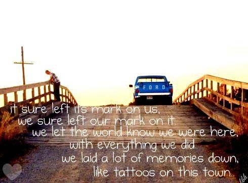 Tattoos on this town jason aldean lyrics for Jason aldean tattoos on this town lyrics