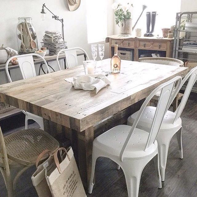 Emmerson Reclaimed Wood Dining Table Pine In