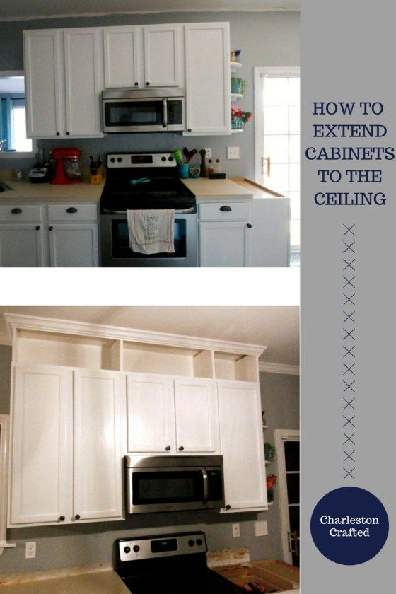 How to extend kitchen cabinets to the ceiling   Kitchen ...