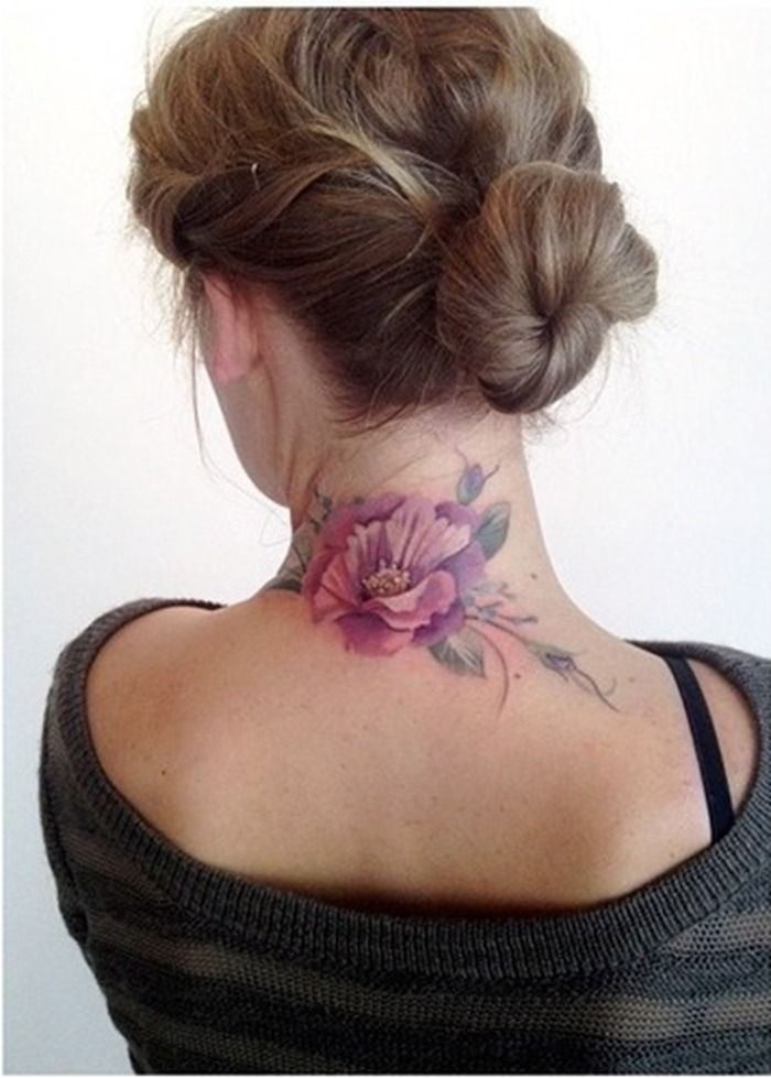 Back of Neck Tattoo Designs | Women Tattoo Designs | Ideas