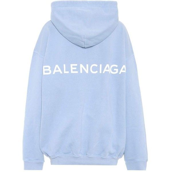 b59d1f4227ea4e Balenciaga Cotton hoodie ( 705) ❤ liked on Polyvore featuring tops ...