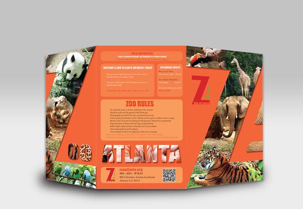 Atlanta zoo brochure by thu doan via behance z o o i for Zoo brochure template
