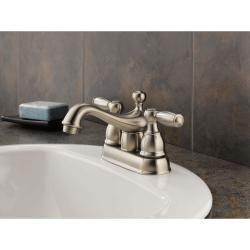 Double Handle Satin Nickel Bathroom Faucet $70