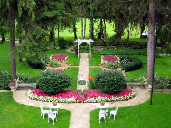 formal garden in woodland setting Boxwood and formal gardens