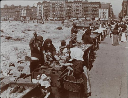 New York. Hester Street, the Jewish Quarter, Street Market, 1898. Once Upon a Town