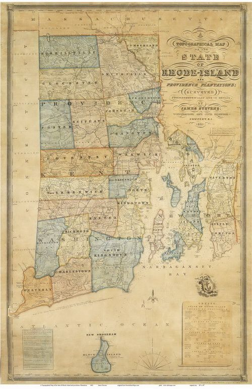 Old Rhode Island Map maps Pinterest Rhode island and Rhodes