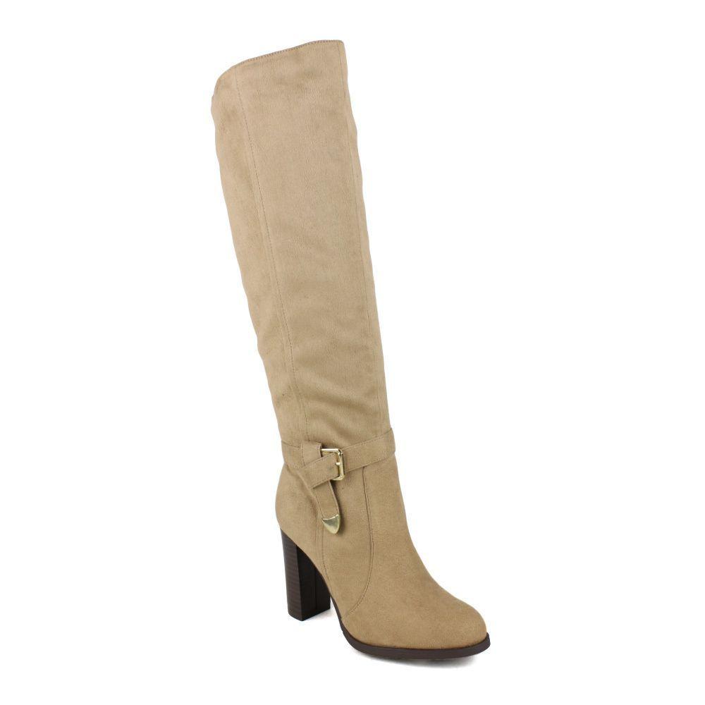Fahrenheit women's Jacob-02 Knott Side Buckle Women's Knee-high High Heel Boots