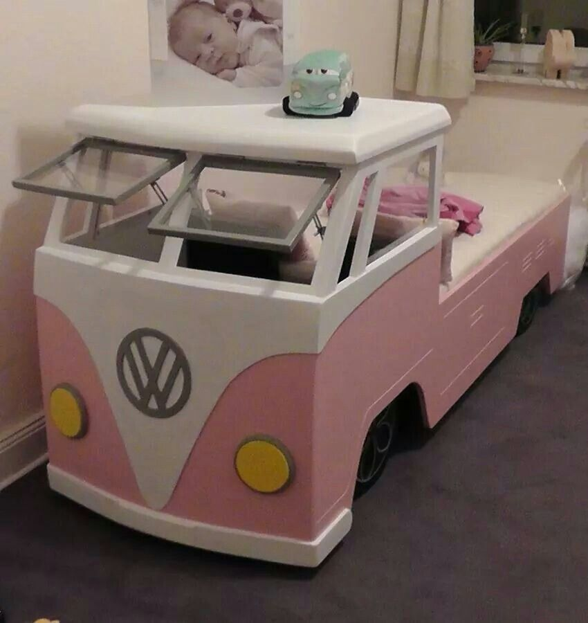 girl vw bus bed das vw accessories pinterest vw bus vw and girls. Black Bedroom Furniture Sets. Home Design Ideas