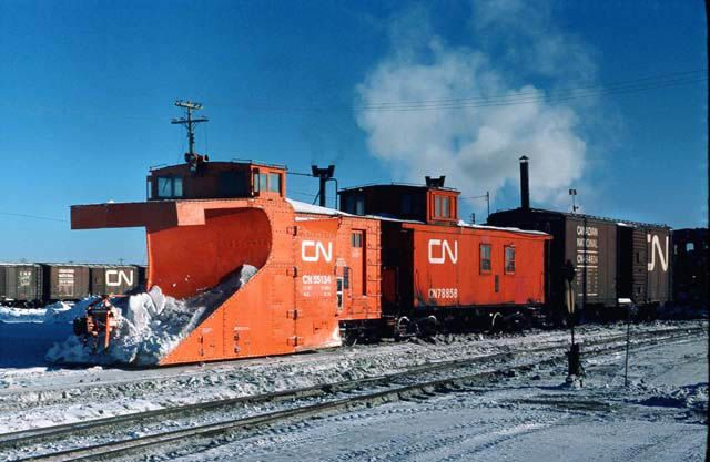Cn 55134 And Her Companion Caboose 78858 Canadian