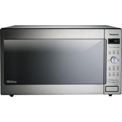 Panasonic Reg 2 2 Cu Ft 1250w Countertop Built In Microwave In Stainless Steel Built In Microwave Oven Built In Microwave Countertop Microwave