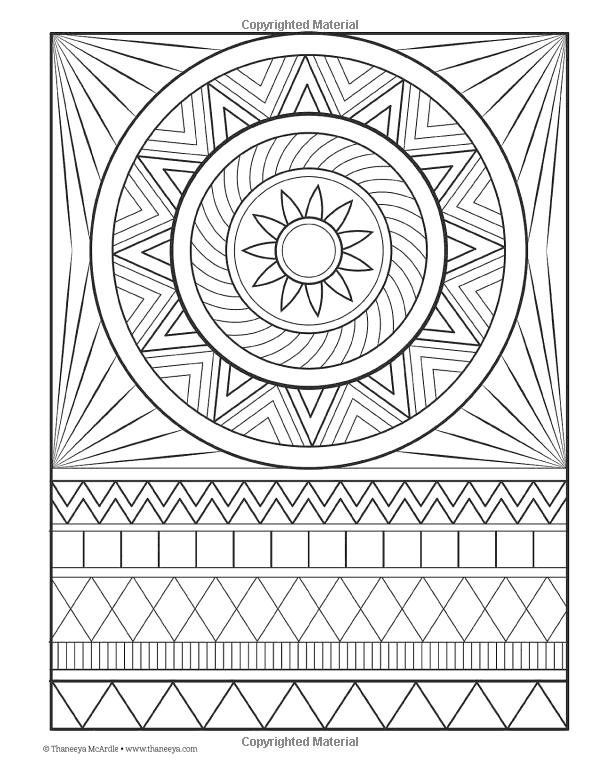 Hipster Coloring Book Design Originals Thaneeya Mcardle