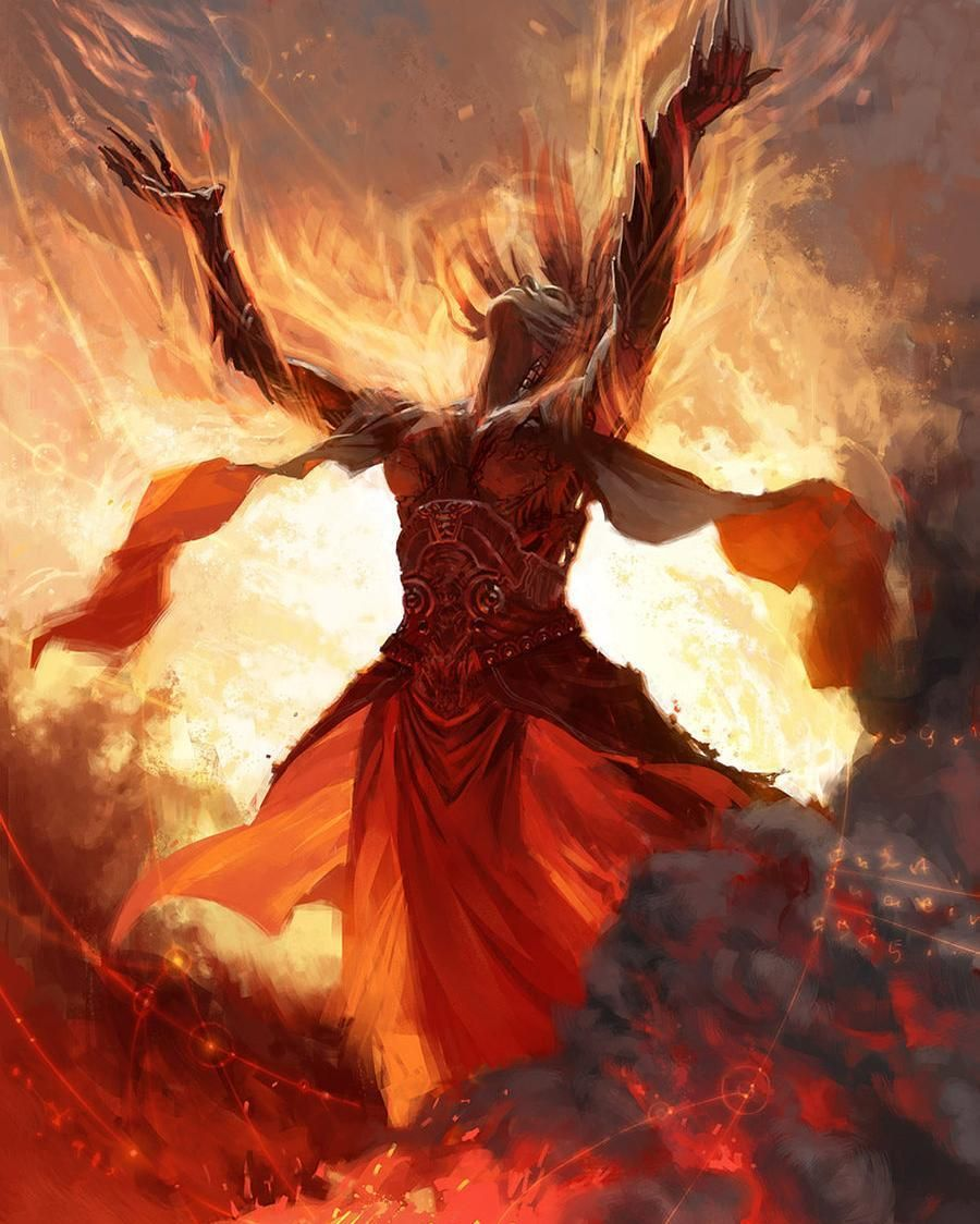 Priest of Urabrask - Clint Cearley - #priestofurabrask #clintcearly #urabrask #mirrodin #newphyrexia #phyrexian #mtg #magic #magicthegathering #artwork #illustrator #illustration #fantasy #mage #mtgaddicts #mtgcommunity #fire by devilzsmile.com #devilzsmile