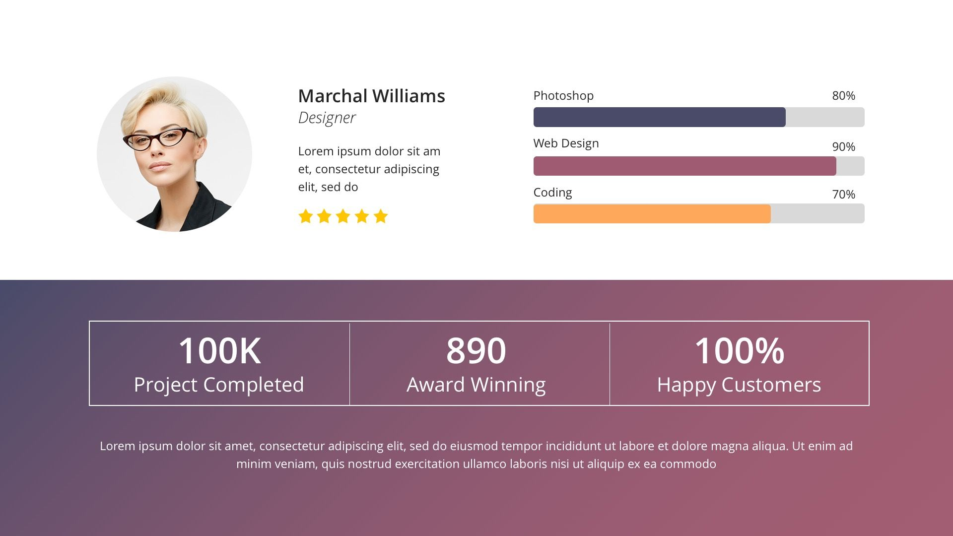 Annual report business powerpoint template keynote