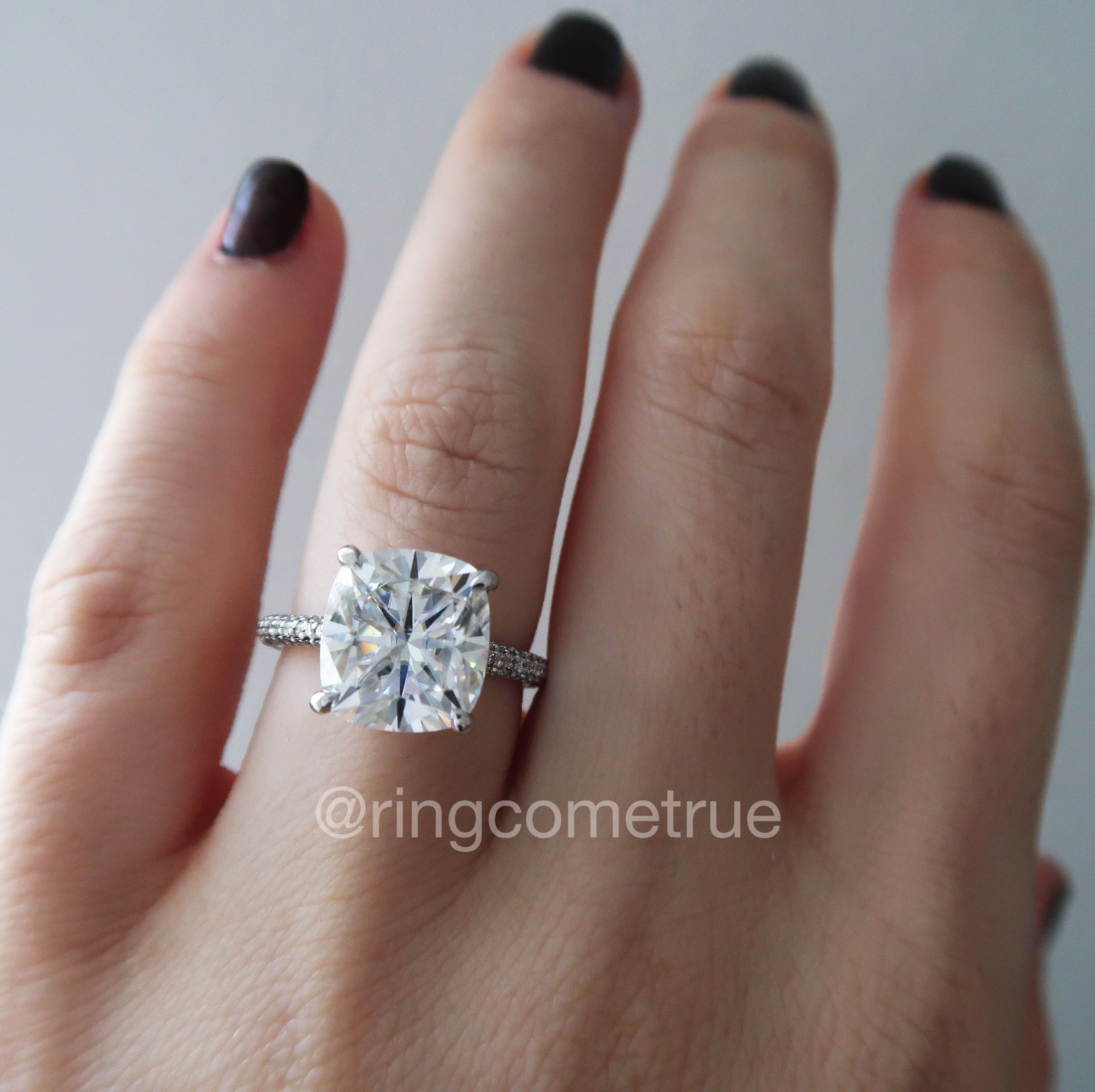 Elongated Cushion Moissanite Engagement Ring Beautiful Engagement Rings Elegant Engagement Rings Dream Engagement Rings