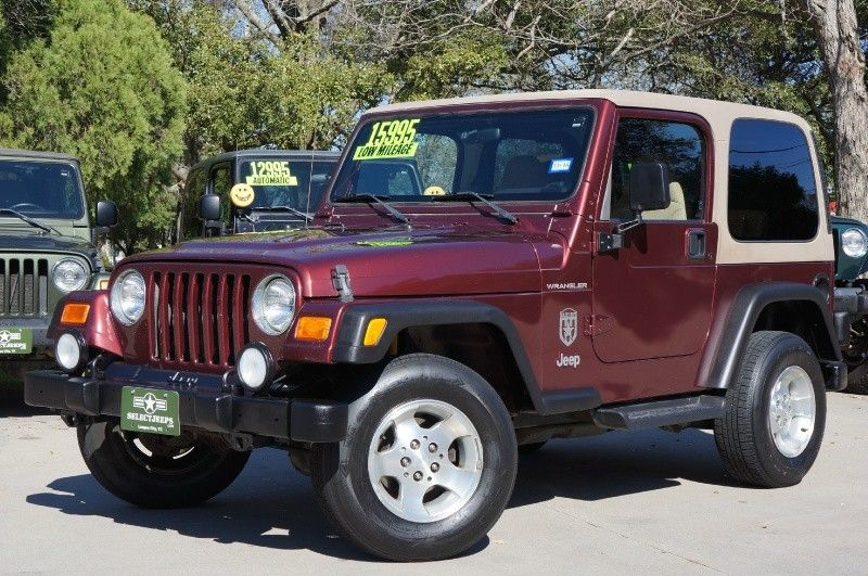 Sienna Red 2002 Jeep Wrangler Great Tow Vehicles Only 65k