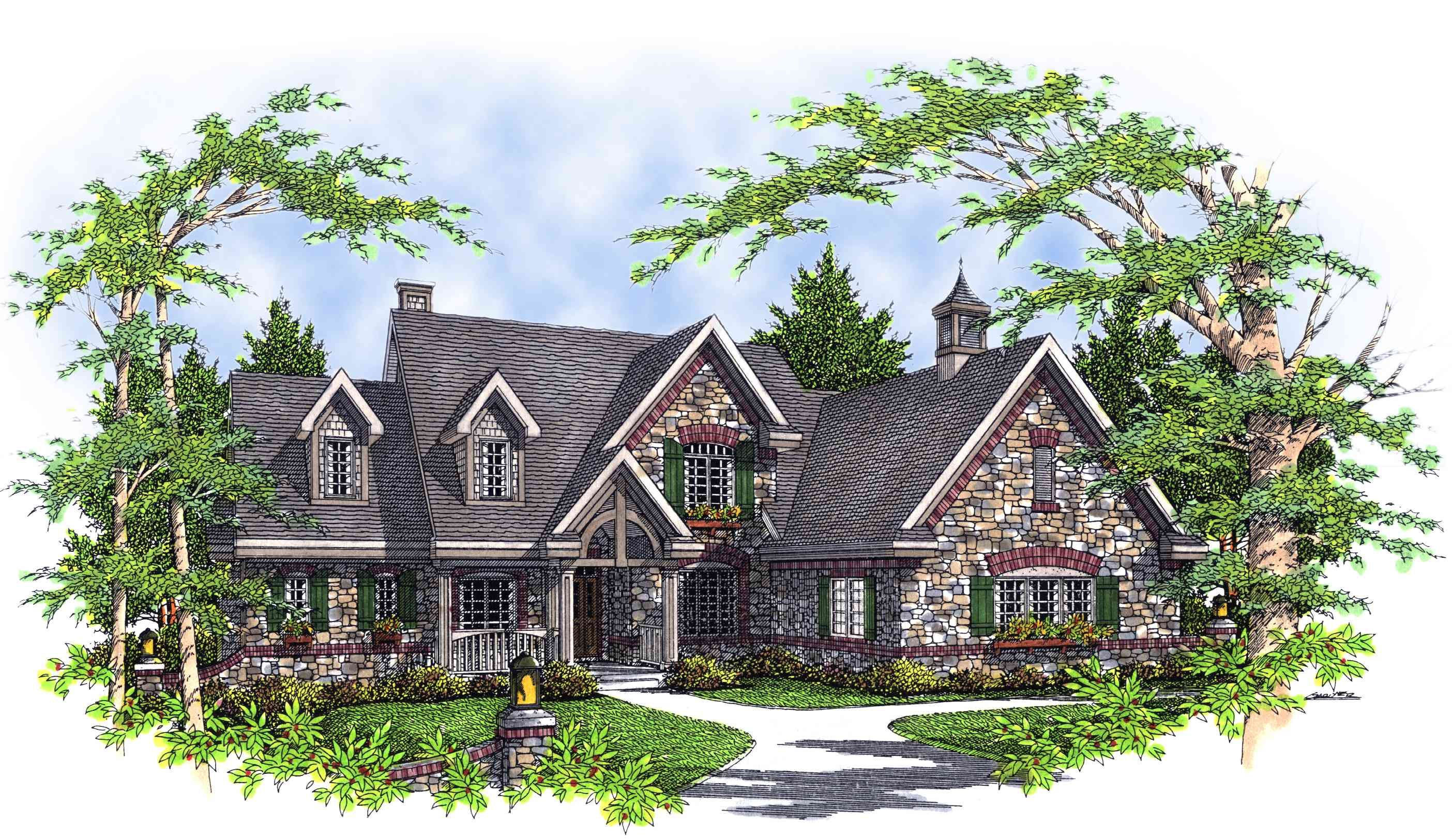 Plan 8968ah Stone And Shaker Siding Modern Style House Plans French Country House Plans Architectural House Plans
