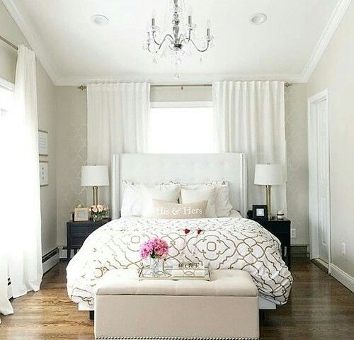 How To Put A Bed In Front Of A Window Apartment Decor Small Bedroom