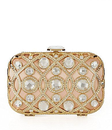 Kate Landry Social Jeweled Minaudiere Evening Bag #Dillards - In Love with this Clutch!