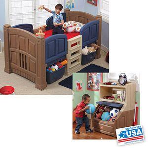 Step2 Boys Loft Storage Twin Bed W Bookcase