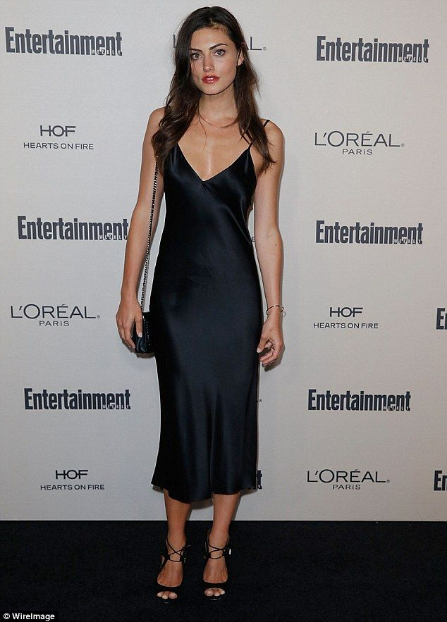 Phoebe Tonkin Steps Out In Sleek Black Dress At Pre Emmys Party