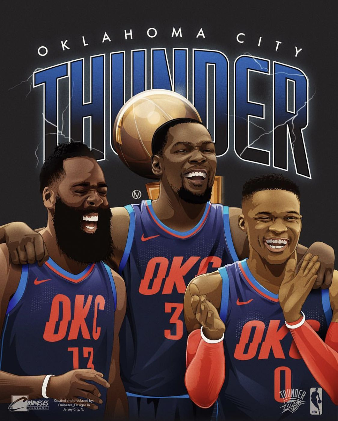 Okc Westbrook Harden Durant Nba Basketball Art Best Nba Players Basketball Players Nba