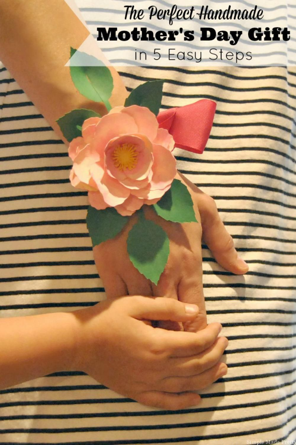 Handmade Mother S Day Paper Flower Corsage In 5 Easy Steps Diy